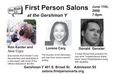 First Person Salon Flyer